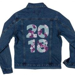 Floral Seniors '18 Denim Jacket