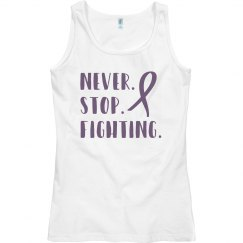 Never stop fighting Alzheimers tank top.
