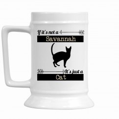Snarky Savannah Cat Stein