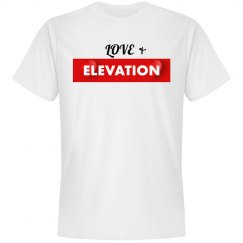 Love & Elevation White Tee