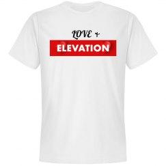 Love & Elevation White Tee
