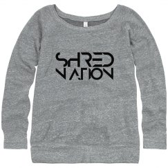 SHRED NATION Wideneck Sweatshirt (Gray)