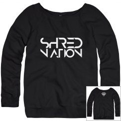SHRED NATION Wideneck Sweatshirt (Dark Gray)