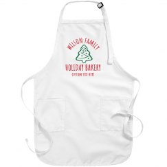 Custom Holiday Family Bakery Aprons