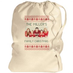 Custom Family Christmas Santa Bags