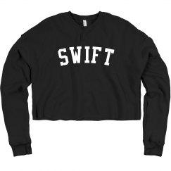 black swift cropped sweatshirt