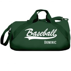 Dominic's baseball bag