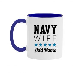 Custom Navy Wife With Name