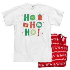 Funny Christmas pajamas say Ho Ho Ho