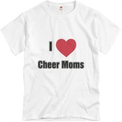 I Heart Cheer Moms Tee