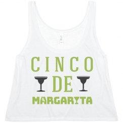 Cinco De Margarita Crop Top