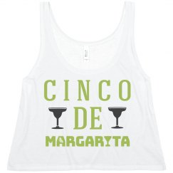 Cinco De Margarita Crop Top
