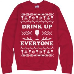 Drink Up Everyone Wine Sweater