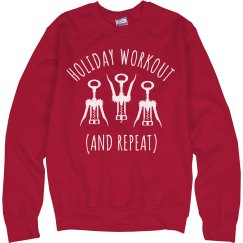 Holiday Workout Wine Ugly Sweater