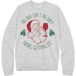 Get Lit Wine Christmas Sweater