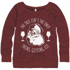 Santa Get Lit Wine Ugly Sweater