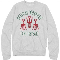Funny Wine Workout Xmas Sweater