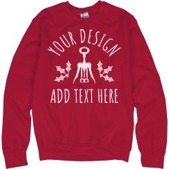 Custom Text Wine Christmas Sweater