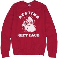 Funny Resting Gift Face Santa Xmas