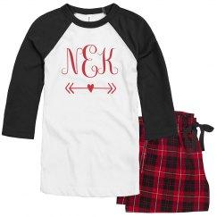 Matching Valentine Monogram Pajamas