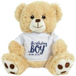 Custom Birthday Boy Bear