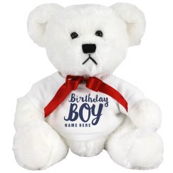 Custom Birthday Boy Bear