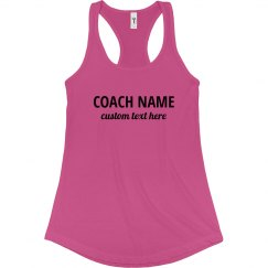 Coach Name Custom Workout Tank