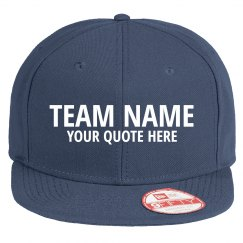 Team Name Flat Bill Hat