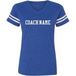 Coach Name V-Neck Tee