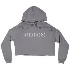 #Texthere Crop Hoodie