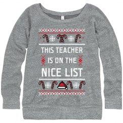Teacher's On The Nice List Sweater