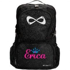 Monogram Cheer Glitter Backpack