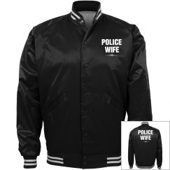 Police wife bomber jacket