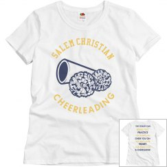Salem christian school cheer t shirt
