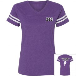 Purple v-neck sports shirt