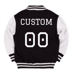 Custom Kids Varsity Jacket Name Number