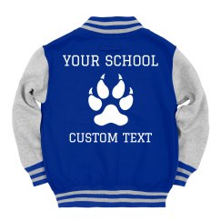 Custom Kids' Letterman School Name