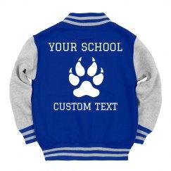 Custom Kids' Letterman School Name