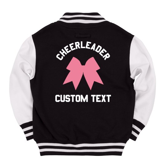 d2c225a5c4c Kids Personalized Cheer Jacket Youth Varsity Letterman Jacket