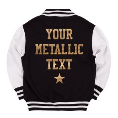 Kids' Custom Metallic Text Sports