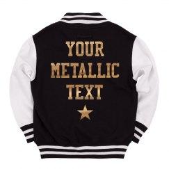 Kids' Custom Metallic Text Sports