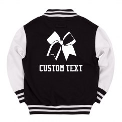 Cheer Bow Custom Text Jacket