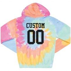 Tie-Dye Custom Name & Number Hoodie