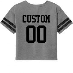 Name & Number Custom Crop Tee