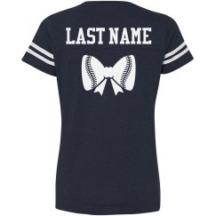 Baseball Sister Bow Custom Name