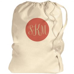 Custom Monogram Laundry Bag