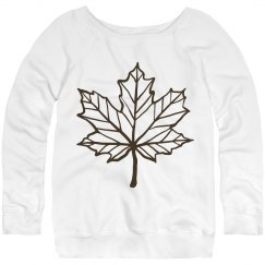 Fall leaf sweatshirt.