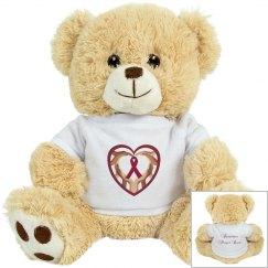 Burgundy Ribbon Prayer Bear