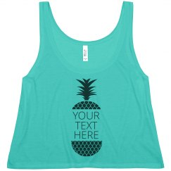 Custom Pineapple Text Design