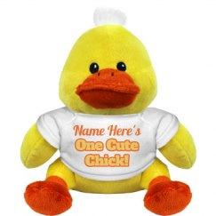 Custom Name Easter Gift Chick